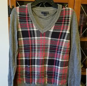 Plaid Tommy Hilfiger Ivy V-Neck Sweater